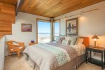 Master Bedroom in upstairs loft at Ocean House